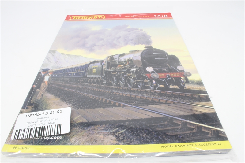 Hornby 2018 UK price list for R8155 2018 Hornby Catalogue