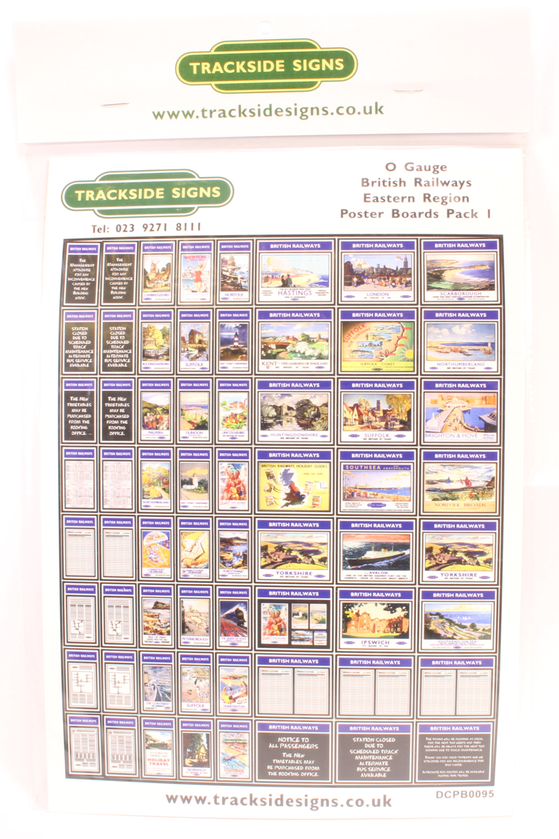 British Railways poster boards pack - Eastern region