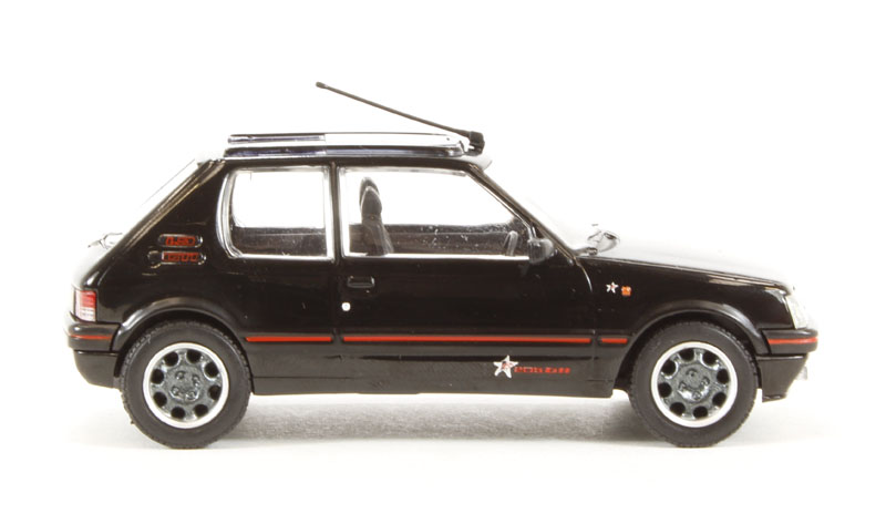 corgi collectables va12706a peugeot 205 gti 1 9 1fm in black. Black Bedroom Furniture Sets. Home Design Ideas