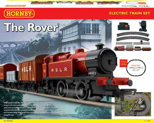 hornby wheel coach rover wagon starter loco 0t van plank containing transformer oval track controller oo gauge