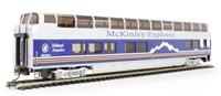 """Bachmann USA 13342 89' - Mckinley Explorer """"Nenana"""" #1055 (B Car) (Lighted Interior)"""