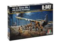 Italeri 1356 AS.51 Horsa MkI/II glider and 13 British paratroops