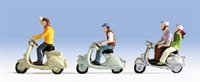 Noch 15910Noch Scooters x 3 with riders
