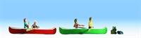 Noch 16808Noch Canoists x 4 & in 2 Canoes