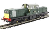Heljan 1719 Class 17 D8558 in BR green with small yellow panels