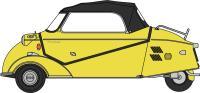 Oxford Diecast 18MBC002 Messerschmitt KR200 Bubble Cabrio Mimosa Yellow