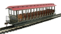 Bachmann USA 19346 Jackson Sharp open-side excursion car - painted, unlettered, green & red