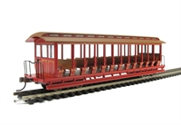 Bachmann USA 19349 Jackson Sharp open-side excursion car - painted, unlettered, red & brown
