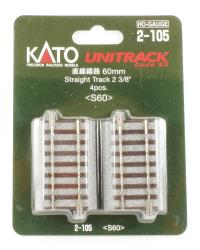 Kato 2-105 Ground Level 60mm Straight Track (4)