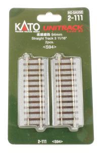 Kato 2-111 Ground Level 94mm Straight Track (2)