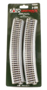 Kato 2-220 Curved Track Radius 610mm 22.5 Deg.(4)