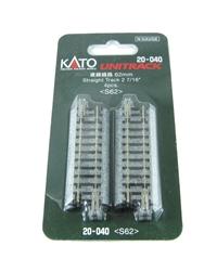 Kato 20-040 Ground Level 62mm Straight Track x 4