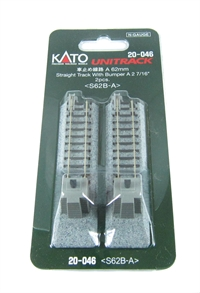 Kato 20-046 Ground Level Buffer Stop (Brick) on 62mm Straight (x2)