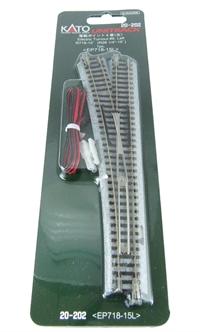 Kato 20-202 Left Hand Electric Point Radius 718mm 15 Deg