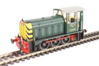 Heljan 2501 Class 05 Hunslet shunter D2578 in BR green with wasp stripes (preserved)
