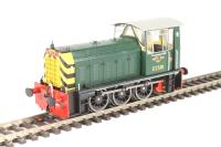 Heljan 2502 Class 05 Hunslet shunter D2581 in BR green with wasp stripes
