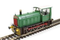 "Heljan 2503 Class 05 Hunslet shunter ""Cider Queen"" in green with wasp stripes (industrial)"