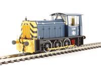 Heljan 2522 Class 05 Hunslet shunter D2595 in BR blue with wasp stripes (preserved)