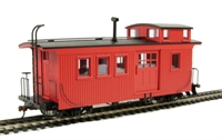 Bachmann USA 26796 Wood side door caboose (with lighting) - Painted, unlettered (caboose red)