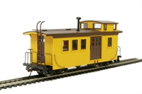 Bachmann USA 26799 Wood side door caboose (with lighting) - Painted, unlettered (yellow & black)
