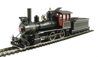 Bachmann USA 28306 American 4-4-0 inside frame steam loco Black with red cab windows and white pinstripes