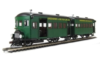Bachmann USA 28457 Rail Bus & Trailer with Interiors Greenbrier & Big Run Lumber Co. (DCC fitted)