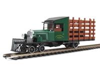 Bachmann USA 29157 Rail Truck with accessories Greenbrier & Big Run Lumber (Green)