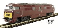 "Dapol 2D-003-007D Class 52 diesel locomotive D1012 ""Western Firebrand"" in BR maroon with small yellow panels. DCC Fitted"
