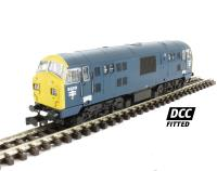 Dapol 2D-012-001D Class 22 diesel locomotive D6318 in BR blue with full yellow ends. DCC fitted