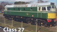 Dapol 2D-013-001D Class 27 diesel locomotive D5401 in BR green with small yellow panels. DCC Fitted