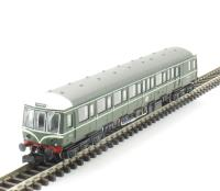 Dapol 2D-015-001D Class 122 diesel railcar W55000 in BR green with speed whiskers. DCC Fitted