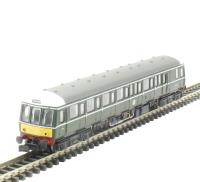 Dapol 2D-015-002D Class 122 diesel railcar W55006 in BR green with small yellow panels. DCC Fitted