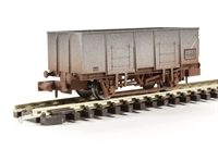 "Dapol 2F-038-006 20 Ton steel mineral wagon ""BR"" - weathered"
