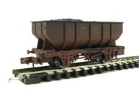 "Dapol 2F-034-004 21 Ton hopper wagon ""NCB"" - weathered"
