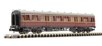 Dapol 2P-000-100 Collett 2nd class coach W1089 in BR maroon/crimson