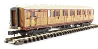 Dapol 2P-011-203 Gresley Teak Brake coach 5537. Light bar ready