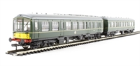 Bachmann Branchline 32-515A Derby Lightweight 2 Car DMU in BR green with half yellow ends