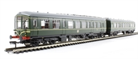 Bachmann Branchline 32-516A Derby Lightweight 2 Car DMU in BR green with speed whiskers