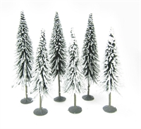 """Bachmann Scene Scapes 32002 5"""" - 6"""" Pine Trees With Snow - Pack Of 6"""