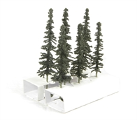 "Bachmann Scene Scapes 32003 5"" - 6"" Conifer Trees - Pack Of 6"