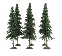 """Bachmann Scene Scapes 32004 5"""" - 6"""" Spruce Trees - Pack Of 6"""