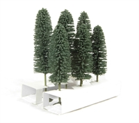 """Bachmann Scene Scapes 32005 5"""" - 6"""" Cedar Trees - Pack Of 6"""