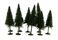 """Bachmann Scene Scapes 32101 3"""" - 4"""" Pine Trees - Pack Of 9"""