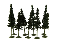 """Bachmann Scene Scapes 32103 3"""" - 4"""" Conifer Trees - Pack Of 9"""