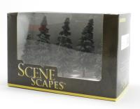 """Bachmann Scene Scapes 32104 3"""" - 4"""" Spruce Trees - Pack Of 9"""