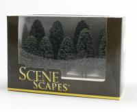"""Bachmann Scene Scapes 32105 3"""" - 4"""" Cedar Trees - Pack Of 9"""