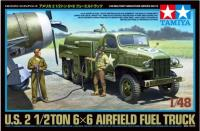Tamiya 32579 GMC 2.5 Ton 6x6 Fuel Truck with 2 figures