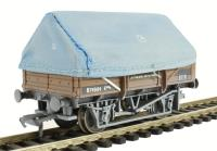 Bachmann Branchline 33-084^ 5 plank china clay wagon with hood in BR bauxite - weathered