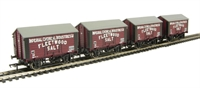 Bachmann Branchline 33-179A Pack of 4 10 ton salt wagon in ICI/Fleetwood Salt livery