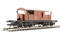 Bachmann Branchline 33-825G 25 Ton Queen Mary brake van in BR bauxite